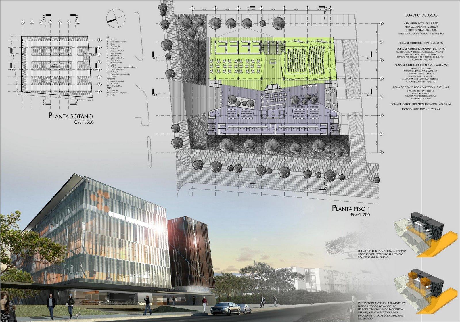 concurso compensar g2 arq proyecta arquitectura